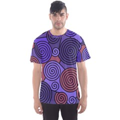 Blue And Red Hypnoses  Men s Sport Mesh Tee by Valentinaart