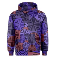 Blue And Red Hypnoses  Men s Zipper Hoodie by Valentinaart