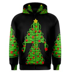 Christmas Tree Men s Zipper Hoodie by Valentinaart