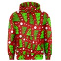 Twisted Christmas trees Men s Zipper Hoodie View1