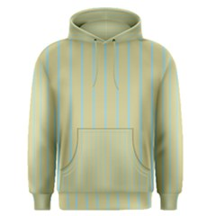 Summer Sand Color Blue Stripes Pattern Men s Pullover Hoodie by picsaspassion