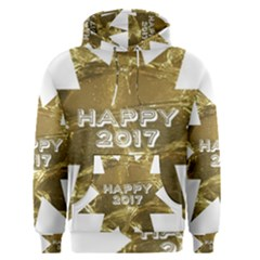 Happy New Year 2017 Gold White Star Men s Pullover Hoodie by yoursparklingshop