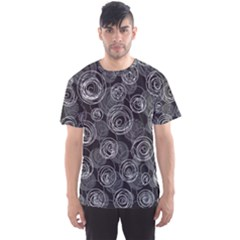 Gray Abstract Art Men s Sport Mesh Tee by Valentinaart
