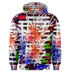 Colorful Big Bang Men s Zipper Hoodie by Valentinaart