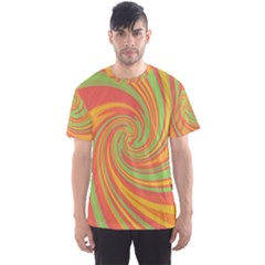 Green And Orange Twist Men s Sport Mesh Tee by Valentinaart