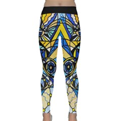 Sirian Solar Invocation Seal   Yoga Leggings  by tealswan