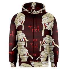 Halloween Mummy Men s Zipper Hoodie by Valentinaart