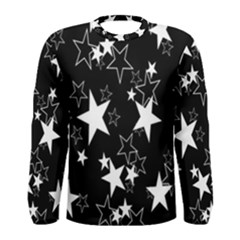 Star Black White Men s Long Sleeve Tee by AnjaniArt
