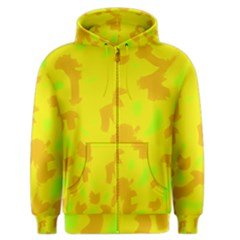 Simple Yellow Men s Zipper Hoodie by Valentinaart