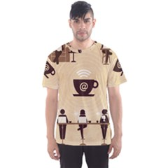 Coffee Ofice Work Commmerce Men s Sport Mesh Tee