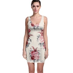 Rose Beauty Flora Sleeveless Bodycon Dress by AnjaniArt
