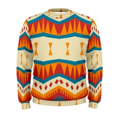 Mirrored Shapes In Retro Colors                                                                                                                  Men s Sweatshirt by LalyLauraFLM
