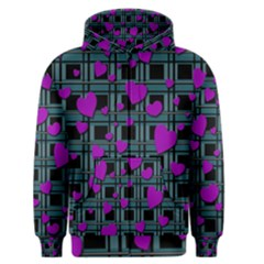 Purple Love Men s Zipper Hoodie by Valentinaart