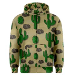 Cactuses Men s Zipper Hoodie by Valentinaart