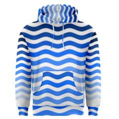 Water White Blue Line Men s Pullover Hoodie by AnjaniArt