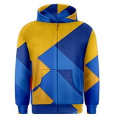 Box Yellow Blue Red Men s Zipper Hoodie by AnjaniArt