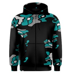 Cyan Creativity Men s Zipper Hoodie