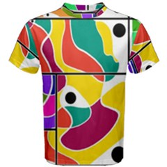 Colorful Windows  Men s Cotton Tee by Valentinaart