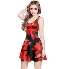 Red Flower  Reversible Sleeveless Dress by Brittlevirginclothing