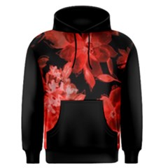 Red Flower  Men s Pullover Hoodie by Brittlevirginclothing