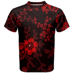 Small Red Roses Men s Cotton Tee by Brittlevirginclothing