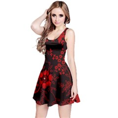 Small Red Roses Reversible Sleeveless Dress by Brittlevirginclothing
