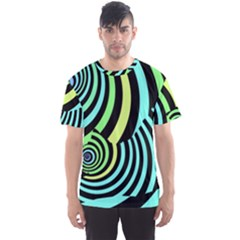 Optical Illusions Checkered Basic Optical Bending Pictures Cat Men s Sport Mesh Tee
