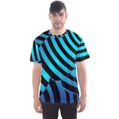 Turtle Swimming Black Blue Sea Men s Sport Mesh Tee