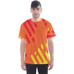 Color Minimalism Red Yellow Men s Sport Mesh Tee