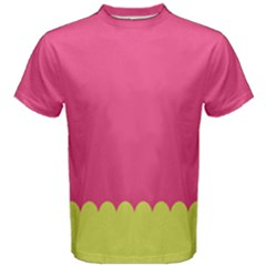 Pink Yellow Men s Cotton Tee