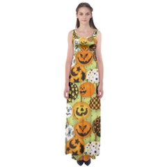 Print Halloween Empire Waist Maxi Dress by Jojostore