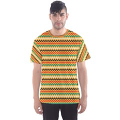 Striped Pictures Men s Sport Mesh Tee