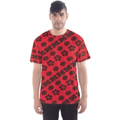 Diogonal Flower Red Men s Sport Mesh Tee