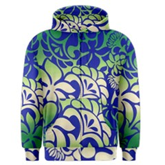 Batik Fabric Flower Men s Zipper Hoodie
