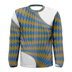 Curve Yellow Blue Men s Long Sleeve Tee