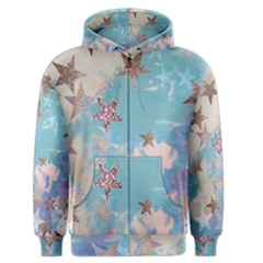 Pastel Stars Men s Zipper Hoodie by Brittlevirginclothing