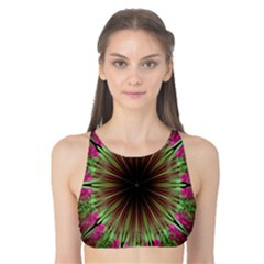 Julian Star Star Fun Green Violet Tank Bikini Top by Amaryn4rt