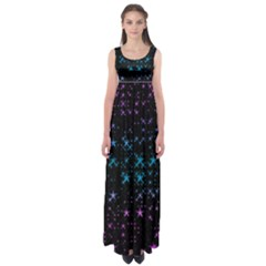 Stars Pattern Seamless Design Empire Waist Maxi Dress by Amaryn4rt