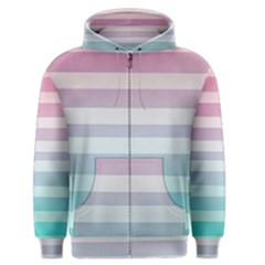 Colorful Vertical Lines Men s Zipper Hoodie by Brittlevirginclothing