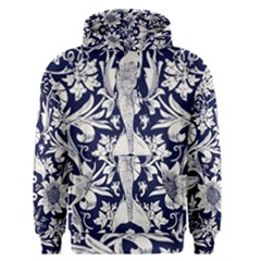 Deep Blue Flower Men s Pullover Hoodie by Brittlevirginclothing