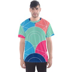 Diagonal Color Way Men s Sport Mesh Tee