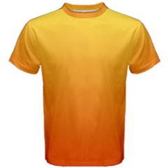 Rainbow Yellow Orange Background Men s Cotton Tee by Amaryn4rt