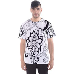 Free Floral Decorative Men s Sport Mesh Tee