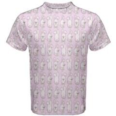 Rabbit Pink Animals Men s Cotton Tee