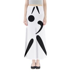 American Football Pictogram  Maxi Skirts by abbeyz71