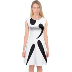 American Football Pictogram  Capsleeve Midi Dress by abbeyz71