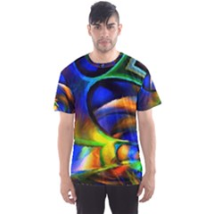 Light Texture Abstract Background Men s Sport Mesh Tee
