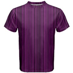 Deep Purple Lines Men s Cotton Tee by Valentinaart