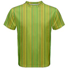 Green Lines Men s Cotton Tee by Valentinaart