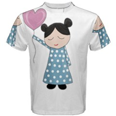 Valentines Day Girl Men s Cotton Tee by Valentinaart
